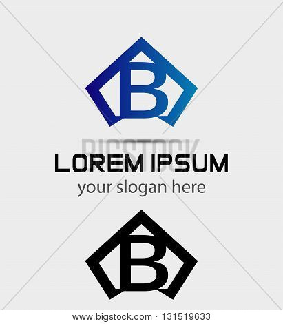 Letter B logo icon design template abstract