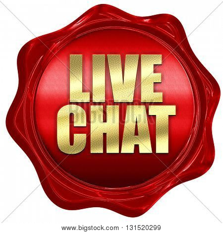 live chat, 3D rendering, a red wax seal