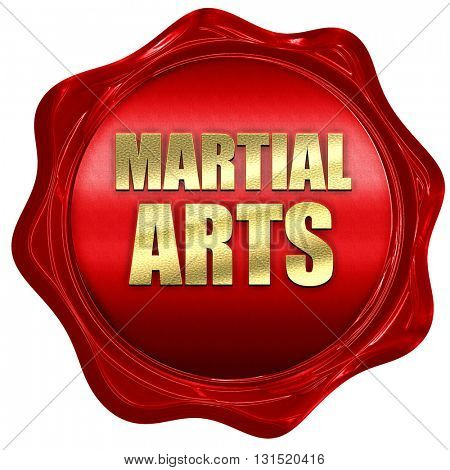 martial arts, 3D rendering, a red wax seal
