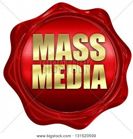 mass media, 3D rendering, a red wax seal