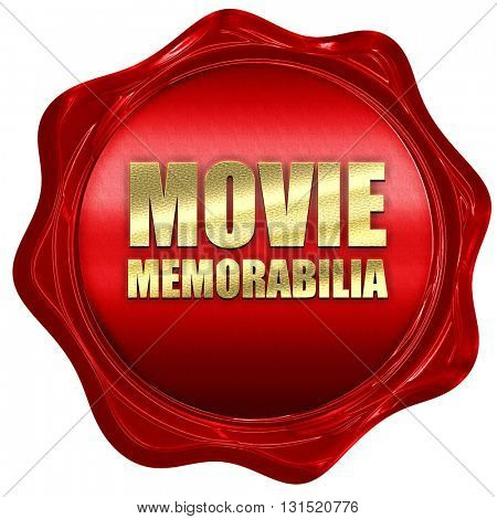 movie memorabilia, 3D rendering, a red wax seal