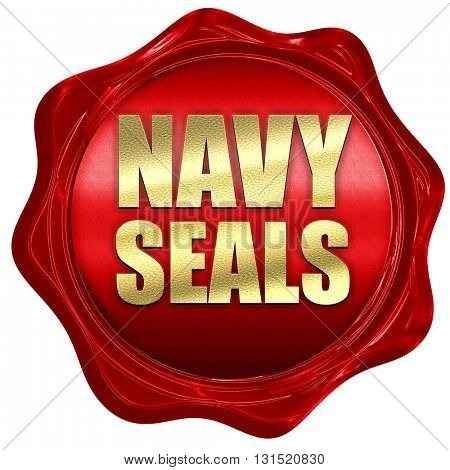 navy seals, 3D rendering, a red wax seal