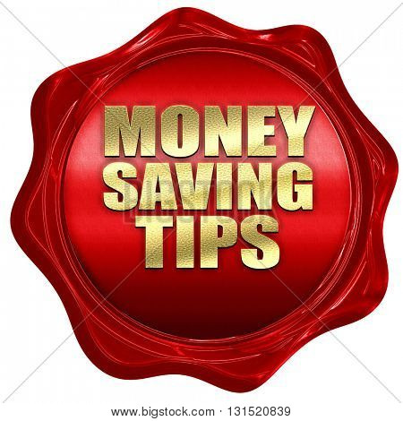 money saving tips, 3D rendering, a red wax seal