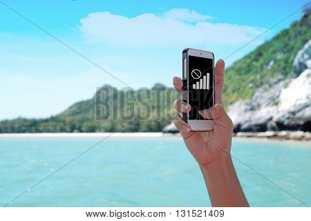 Smartphone holds by right hand which shows