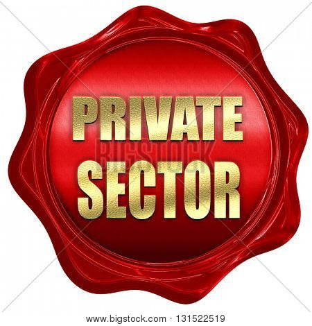 private sector, 3D rendering, a red wax seal