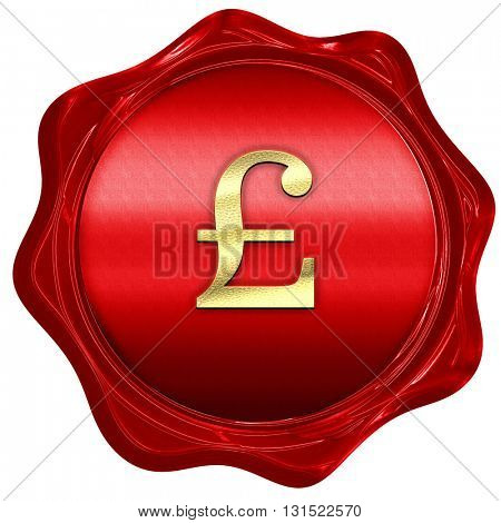 pound sign, 3D rendering, a red wax seal
