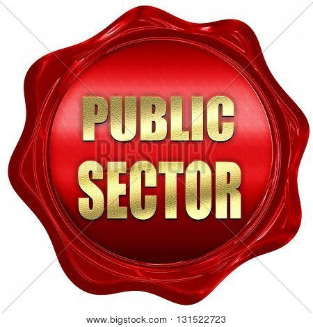 public sector, 3D rendering, a red wax seal