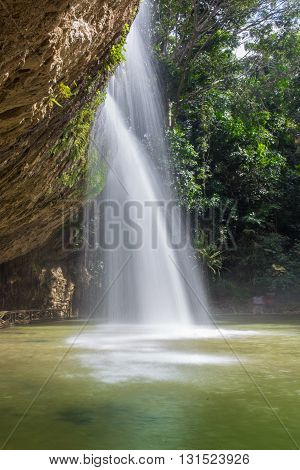 waterfall in deep forest in the Vietnam