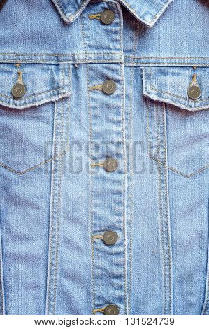 close up of jeans shirt, use for background