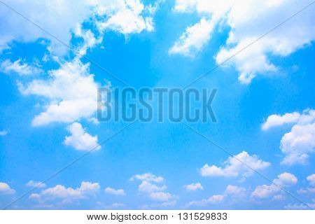 Blue sky background. The blue sky and white clouds.
