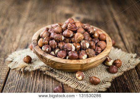 Heap Of Hazelnuts (selective Focus)