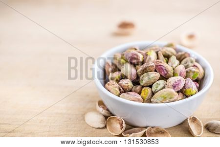 Portion Of Peeled Pistachios