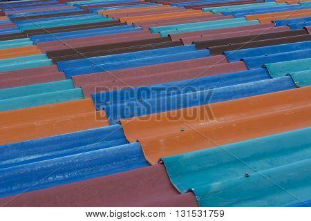 Color Ful Tiles Or Zinc Roof Background