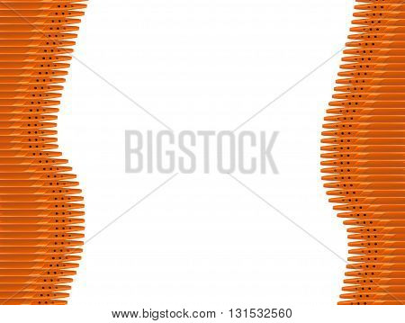 pen wave-shaped - isolated on the white background