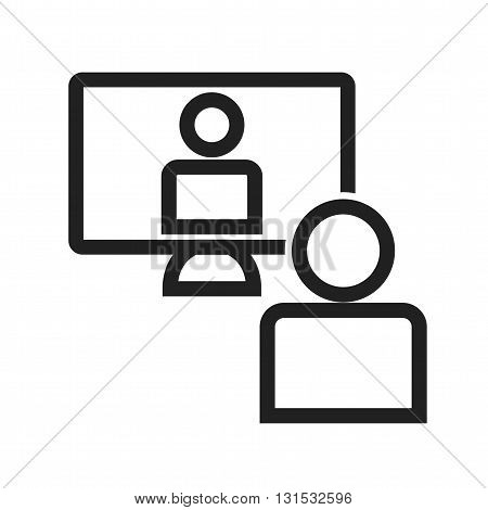 Video, conference, business icon vector image. Can also be used for networking. Suitable for use on web apps, mobile apps and print media.