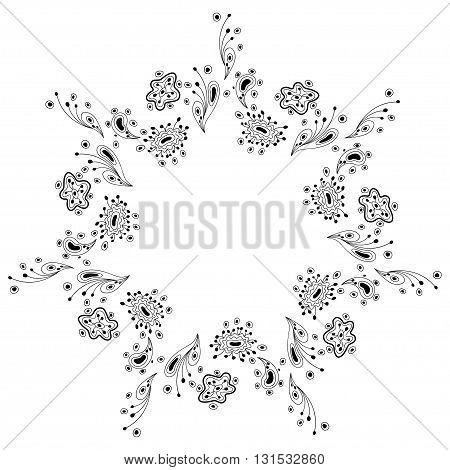 abstract round pattern, mandala vector illustration, design elements