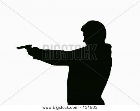 Pistoleer Sillouette