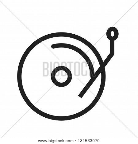 Disc, cds, music icon vector image. Can also be used for music. Suitable for web apps, mobile apps and print media.