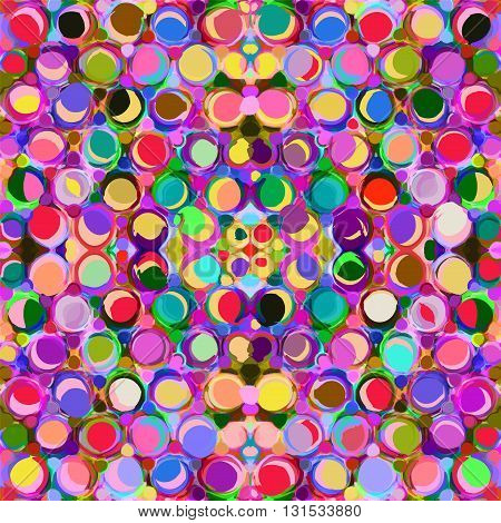 Seamless pattern with row of colorful grunge circles