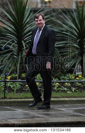 LONDON, UK - FEBRUARY 2, 2016: John Whittingdale MP seen at Downing Street