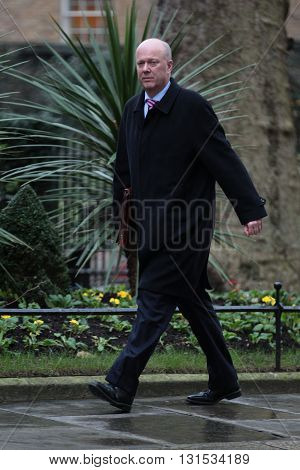 LONDON, UK - FEBRUARY 2, 2016: Chris Grayling MP seen at Downing Street in London