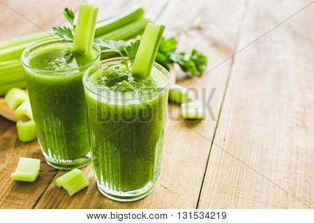 Green Smoothie With Celery And Spinach