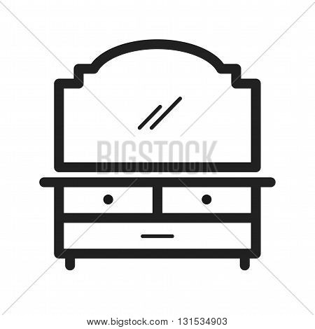 Table, dressing, apartment icon vector image.Can also be used for home. Suitable for mobile apps, web apps and print media.