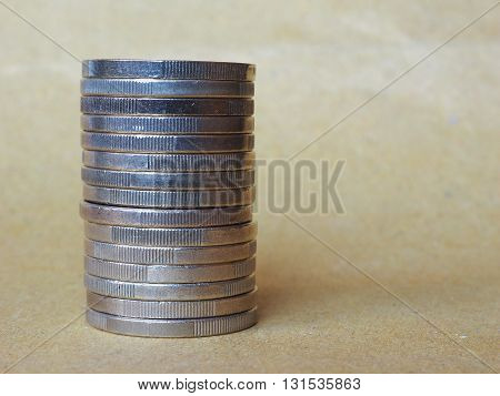 Euro Coins Pile
