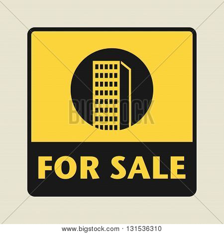 House For Sale icon or sign, vector illustration