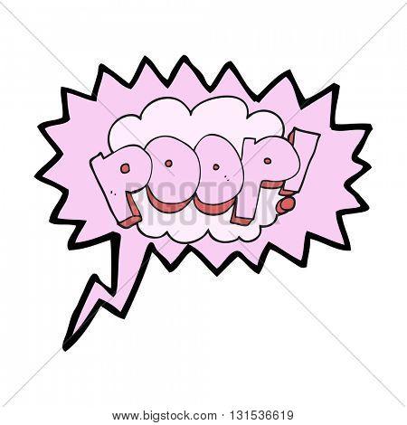 freehand drawn speech bubble cartoon poop! text