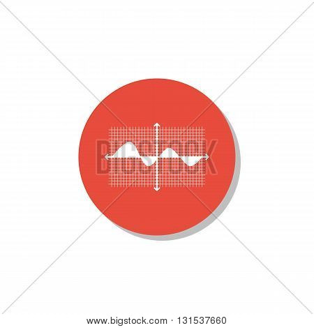 Marketing Icon In Vector Format. Premium Quality Marketing Symbol. Web Graphic Marketing Sign On Red