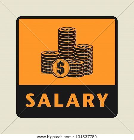 Salary abstract icon or sign, vector illustration