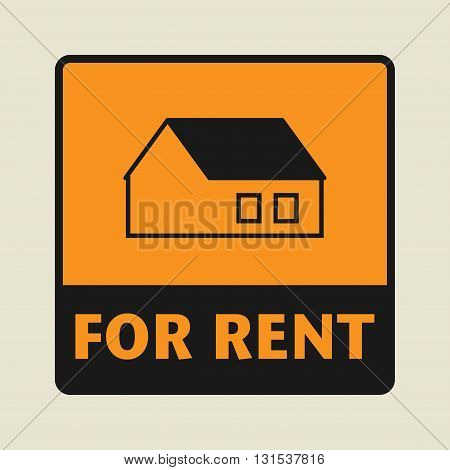 House For Rent icon or sign vector illustration
