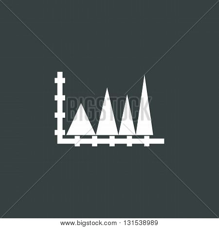 Triangle Icon In Vector Format. Premium Quality Triangle Symbol. Web Graphic Triangle Sign On Dark B