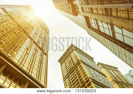low angle view of skyscrapers of chongqing city,china.