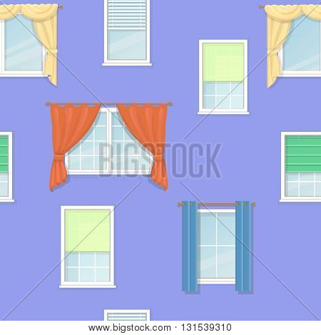 windows curtains blind and Jalousie seamless background