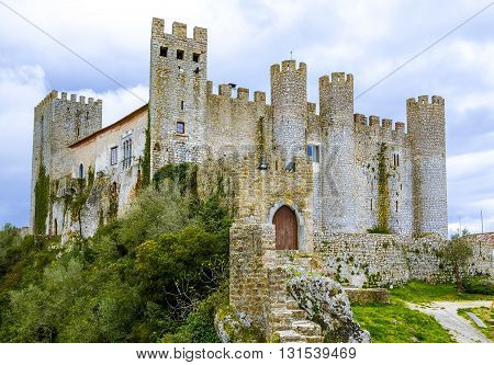 Medieval castle in the portuguese village of Obidos