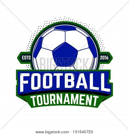 Football tournament emblem template. Design elements for logo label badge emblem sign. Vector element.