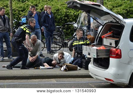 Bike Accident Close Viiew