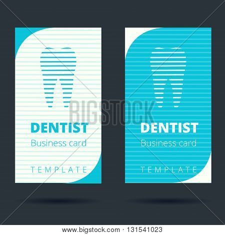Dentist and stomatologist business card template design layout