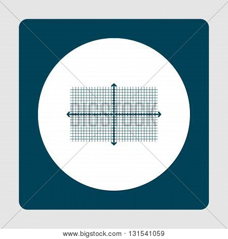 Rectangle Icon In Vector Format. Premium Quality Rectangle Symbol. Web Graphic Rectangle Sign On Blu