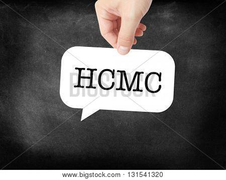 HCMC written on a speechbubble