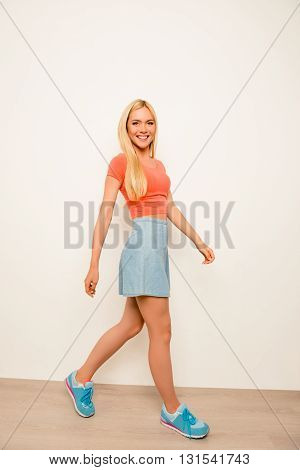 Portrait Of Young Pretty Model Showing Her Trendy Clothes