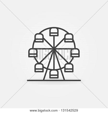 Ferris wheel icon -  vector thin line carousel symbol or sign