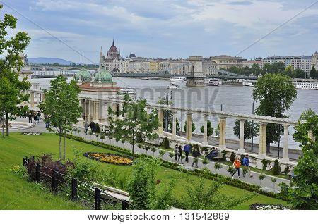The Danube From The Castle Garden Bazaar