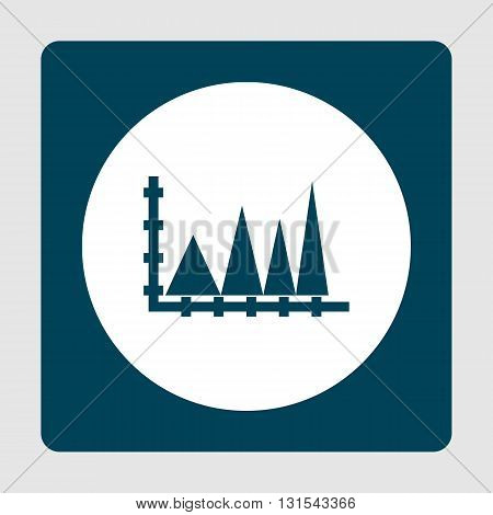 Triangle Icon In Vector Format. Premium Quality Triangle Symbol. Web Graphic Triangle Sign On Blue B