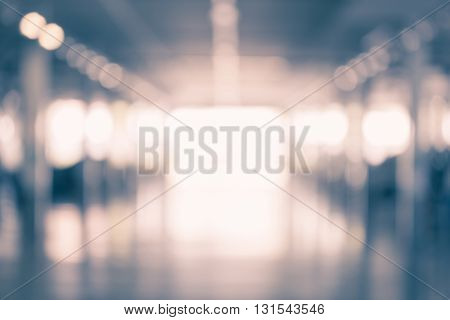 Abstract Blurred Background Of Shopping Mall With Bokeh