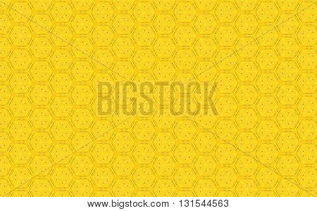 Bright Yellow color hexagonal vintage pattern background