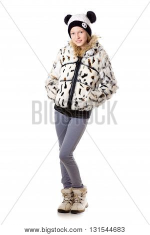 Girl In Funny Winter Clothing