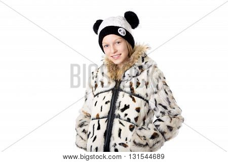 Girl In Funny Winter Outfit